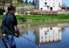 pêche dans l'étang de l'hôtel